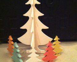 Noël sera fun et punchy : nos sapins en Valchromat sont de retour à La Cuisine !